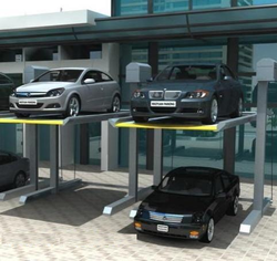 Deck Two Level Pit Car Parking System