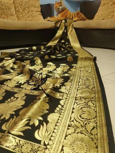 Katan Silk Sarees, Machine Made