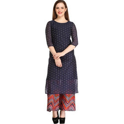 Cottinfab Women's Kurta and Palazzo Set