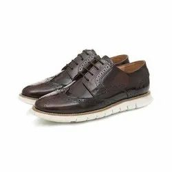 Brown Casual Wear Mens Leather White
