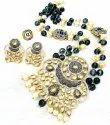 CL Jewellery Customised Meenakari Kundan Agate Imitation Jewellery Necklace Set