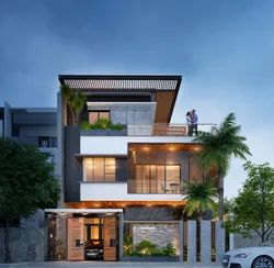 Modern Home Elevation 3d Design Service, in Pan India