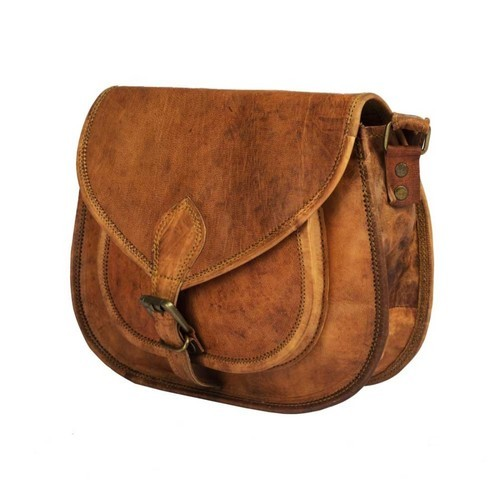9b2839bbccac Brown Genuine Leather Sling Bag For Girls