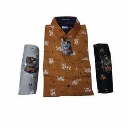 Cotton Printed Men Full Sleeve Party Wear Shirt, Size: S-4XL