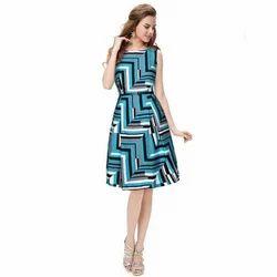 Ladies Western Printed Short Dress