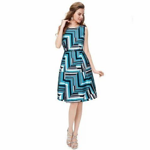 6b37cb0af0 Ladies Sleevlees Printed Western Short Dress