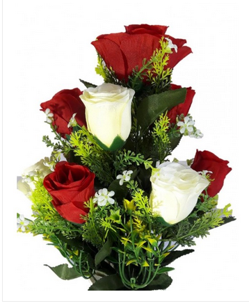 Multicolour Skuharwp 1 Lovely Rose Multi Colour Flowers With Pot