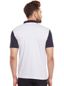 Men Half Sleeve Mandarin Collar T-Shirt