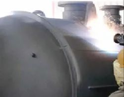 Thermal Spray Aluminum Coating on Tank