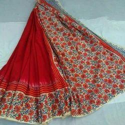 Cotton  Floral Print Fancy Sarees, Length : 6 m