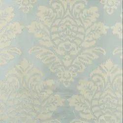 56 inch Blue Jacquard Vivan Curtain Fabric