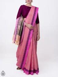 Unnati Silks 6.20 MTR (Inclusive of Blouse) Pure Handloom Mysore Jacquard Cotton Saree, Jacquard Weaving