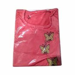 Red Cotton Ladies Kurta