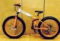 BMW Orange Fat Tyre Foldable Cycle