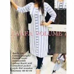 Aarfa 149 Cotton Straight Formal Wear Kurti