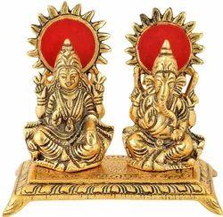 Gold Plated Brass Laxmi Ganesha Diwali Gift