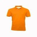 Orange Cotton School Collar T-shirt