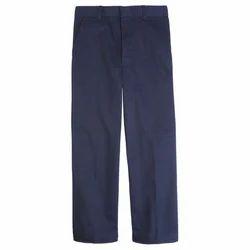 Blue Cotton School Pant