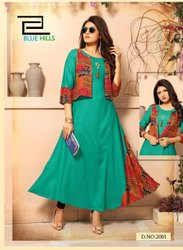 Party Wear Rayon Long Kurti