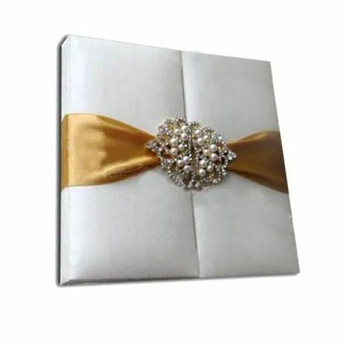 Rectangle Paper Pearl Silk Box Invitation
