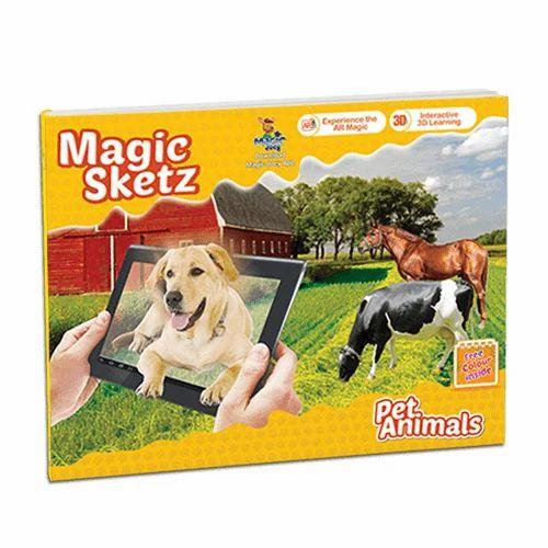 3D Coloring Book - Magic Sketz Pet Animals Book at Rs 249 /piece ...