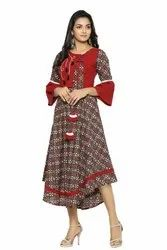 Yash Gallery Women's Cambric Cotton Floral Printed Kurta