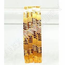 Round Party,Wedding Bangles Indian Forming Gold Platted Bangle