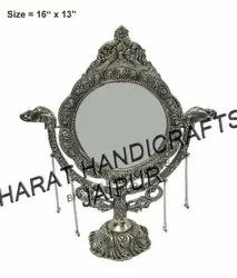 German Silver Table Mirror