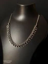 Casual Wear Oxidised Statement Necklace