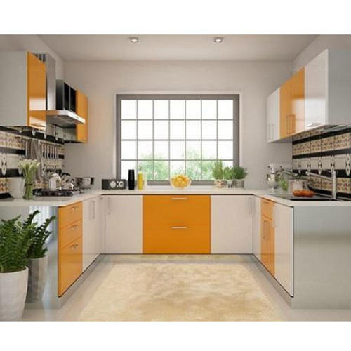 Mobile Home Kitchen Cabinets: Modern U Shaped Kitchen Cabinet, Rs 950 /square Feet