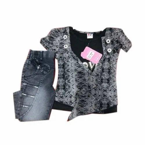 f33672d05 Party Wear Kids Stylish Jeans Top, Rs 400 /set, Sidhbali Garments ...