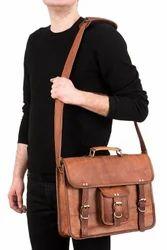 Leather Messenger Bag, Crossbody Bag, Laptop Bag, Office Bag, Vintage Leather Bag