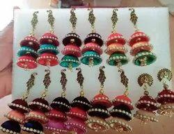 Jyoti Creation Silk Thread Earrings