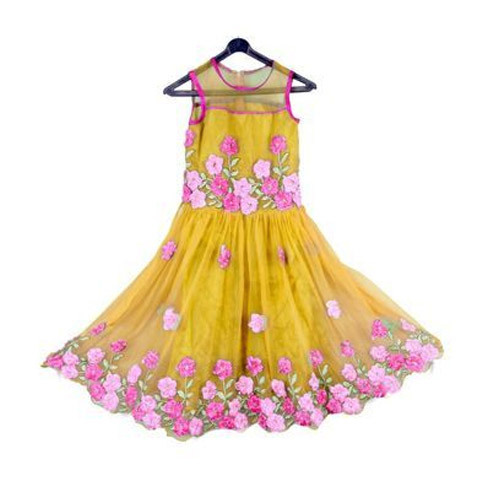 Kids Ribbon Embroidery Work Frock At Rs 499 Piece Kids Frock Id