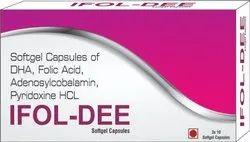 Softgel Capsules of DHA Folic Acid Adenosylcobalamin Pyridoxine HCL