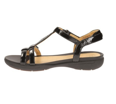 415cfa7d0277b5 Clarks Daily Wear And Casual Black Patent Sandal