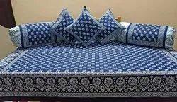 Indigo Diwan Bed Sheet