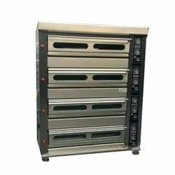 Semi-Automatic Stainless Steel Four Deck Oven, Capacity: 150Kg, 2.4 kW/hr