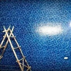 High Gloss Blue Texture Painting Service