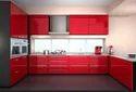 L Shaped Layout Modular Kitchen