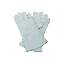 12 Inch White Leather Hand Glove