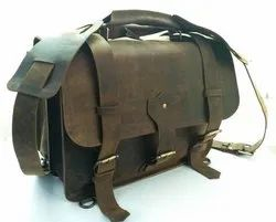 Buffalo Leather Shoulder Bag Cum Backpack