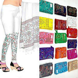 e3adcfed2d Cotton Straight Fit Bandni Printed Leggings and Dupatta