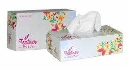 Feather Touch White Facial Tissue Paper