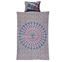 Mandala Duvet Cover Pink Indian Bohemian Hippie