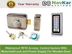Weatherproof RFID Pin Access Panel with Motorised Lock and Power Supply