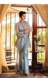 Chiffon Unstitched Rozina Munib Pakistani Ladies Suits Collection, Dry Clean