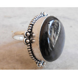 Silver Plated Gemstone Ring