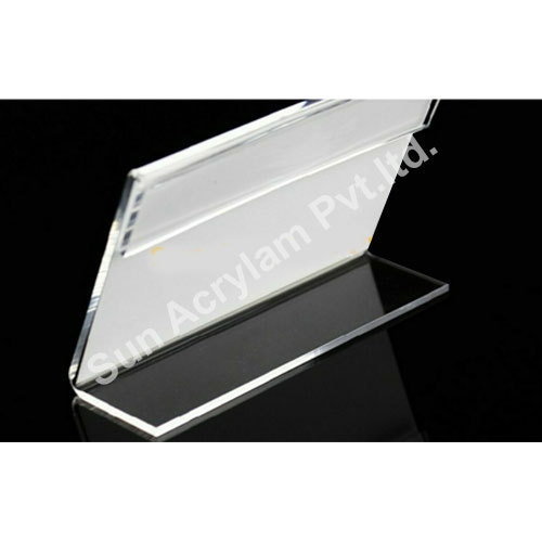 Well known Transparent Table Desk Acrylic Name Plate Holder For Office, Rs  RS09