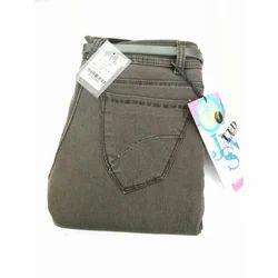 Regular Fit Plain Ladies Denim Jeans
